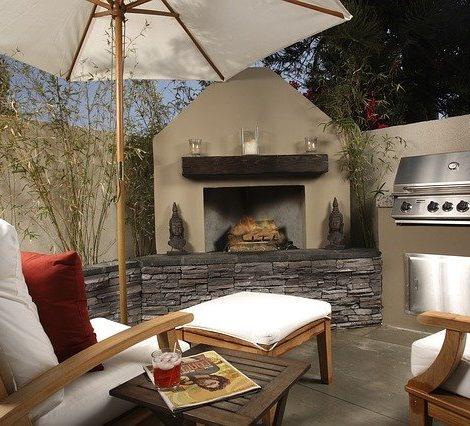 Backyard living area